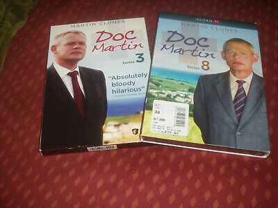 2 DVD sets - DOC MARTIN series 3 and 8 (SEALED NEW) Martin Clunes TV seasons