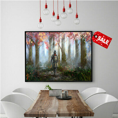 Modern Art Oil Painting HD Print Canvas Forest Knight Room Wall Decoration 16x24