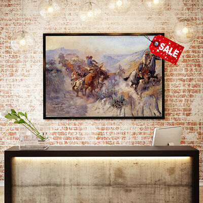 Oil Painting Art HD Print Office Deco Charles Marion Russell on The Canvas 16x24