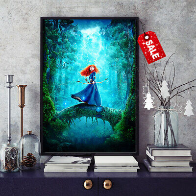 HD Canvas Print Room Art Wall Decor Painting Brave Walt Disney Characters 16x24