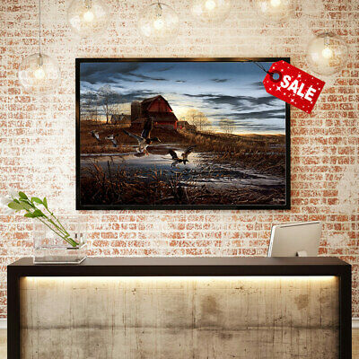 Canvas Wall Art  Print Terry Redlin Morning Chores for Home Decor Painting 12x18
