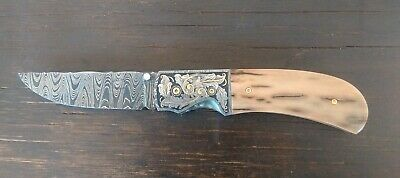 Mike Tyre Prickly Pear Gentleman's Dress Folding Knife - Mammoth Ivory Handle