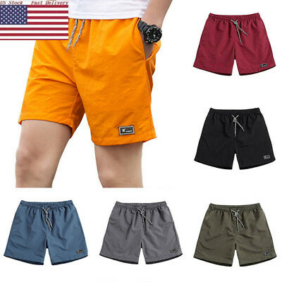 Men Shorts Training Running Sport Workout Jogging Pants Trousers Quickly Drying