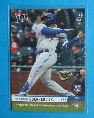 Topps NOW *Vladimir GUERRERO Jr.* 1st & 2nd MLB Home Runs/HR's # 229 *5/14/2019