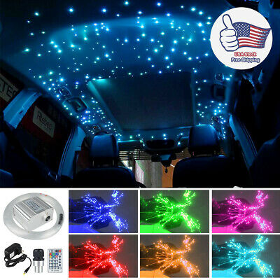 RGB Twinkle LED Fiber Optic Star Ceiling Light Muti Color For Car Home Roof Lamp