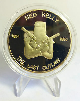 """Ned Kelly """"The Last Outlaw"""" 1 Oz Coin with C.O.A. Only 2,500 Minted (no Tin)"""