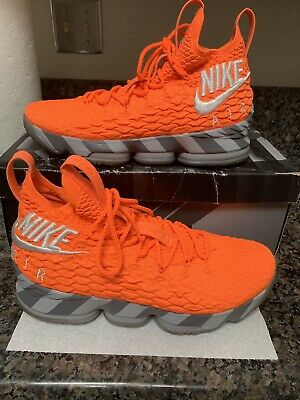 various colors a4d23 b4a4c NIKE LEBRON 15 Orange Box Watch The Lakers SUPER RARE Off White Bred Toe  Size 12