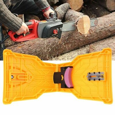 Chainsaw Teeth Sharpener Sharpens Easy File Sharp Bar Mount Fast Grinding Chain