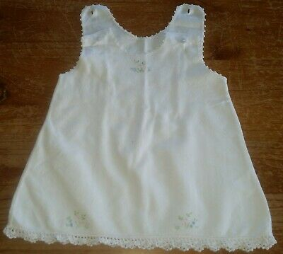 Vintage Baby Flannelette Petticoat Hand Embroidered & Crocheted