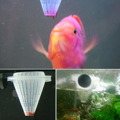 4Pcs Aquarium Tank Worm Feeder Cone Feeding Live Frozen Brine Shrimp Fish Food
