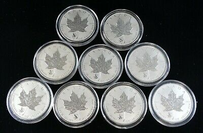 2016 Silver 1 Oz $5 Maple Coins Lunar Monkey Privy Group Of 9