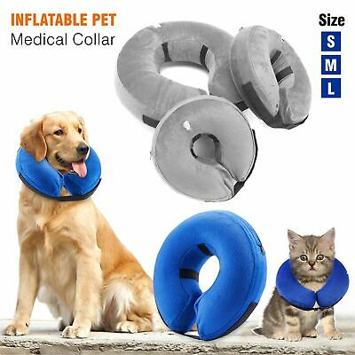 Inflatable Dog Puppy Cat Pet Vet E Collar Neck Head Post Surgery Lampshade Cone