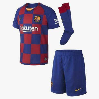 Messi Kids #10 Barcelona 19/20 Home Kit Socks Shirt Shorts Nike Football New