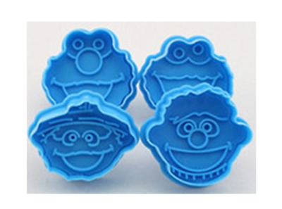 New Sesame Street Elmo Cookie Cutters Set Cake Fondant Mold