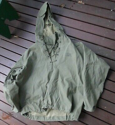 Vietnam era (but possibly earlier & later) US navy foul weather hooded jacket.