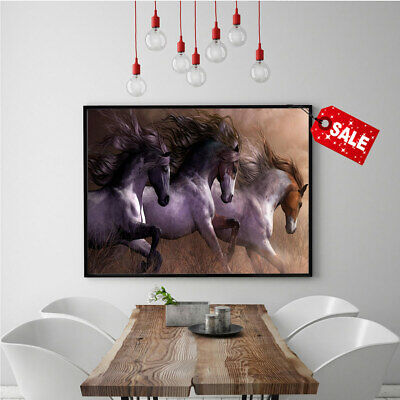 Hd Print Poster Modern Home Wall Deco Horse Canvas Animal Art Oil Painting 12x18