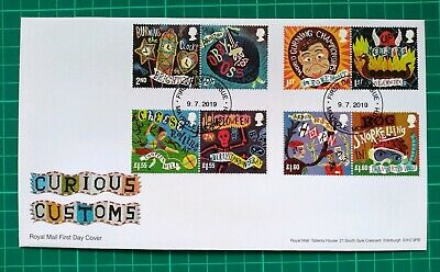 2019 Curious Customs Royal Mail First Day Cover Maypole Monmouth NP FDI pmk