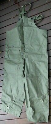 Vietnam era (possibly earlier & later) US navy foul weather trousers & braces.