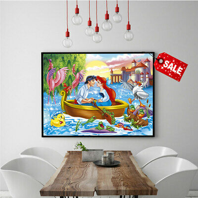 Home Wall Art Picture Painting Little Mermaid HD Print Canvas Decorative 16x24