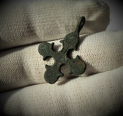 Beautiful Viking Pendant Cross Kievan Rus 9-10 AD.