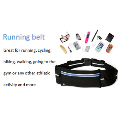Running Belt Jogging Sports Waist Bag Wallet Bum Keys Mobile Travel Pouch Unisex