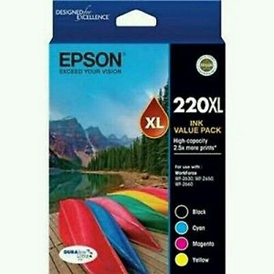 Epson  220XL Ink Genuine Value pack 2.5x More Prints brand new