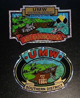Southern District Cfmeu Union Mining Stickers