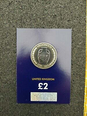 2019 Wedgewood £2 Two Pound Coin Brilliant Uncirculated.