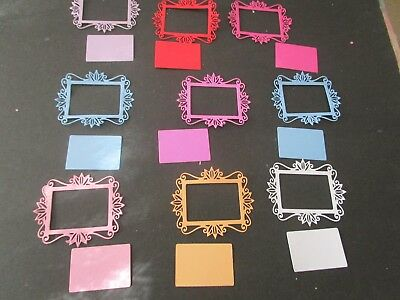 Die Cut Card Toppers  14  Variety Colours Random Colours