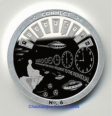 FORGO 1 OZ PROOF LIKE ROUND//CHAUTAUQUA SILVER WORKS//THROUGH THAT DOOR SERIES//#d