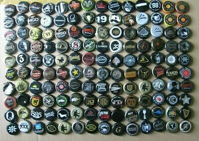 140 Mixed Different Worldwide Shades Of Black Beer Bottle Caps