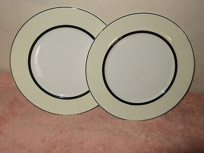 MARKS and SPENCER (M&S) MANHATTAN Cream 9 iNCH PLATES EXC COND