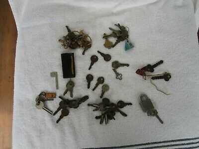 LARGE+Vintage Lot Keys+LOCK~ !!!!!!!!!!!!!!~~SOME ARE RARE~~ATTIC FIND!!!