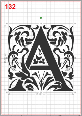 Beautiful Alphabet Letter A Stencil MYLAR A4 sheet strong resuable art wall deco