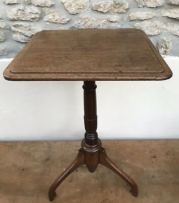 Antique Vintage Tilt Top Occasional Tea Tripod Table wood