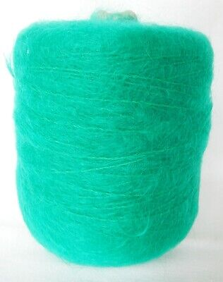 Crafts Mohair Green Hand/Knitting Machine Yarn Cone 373 gm Preowned Unused