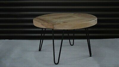 Side Table Surrey.Beautiful Handmade Solid Oak Side Table With Hairpin Legs By
