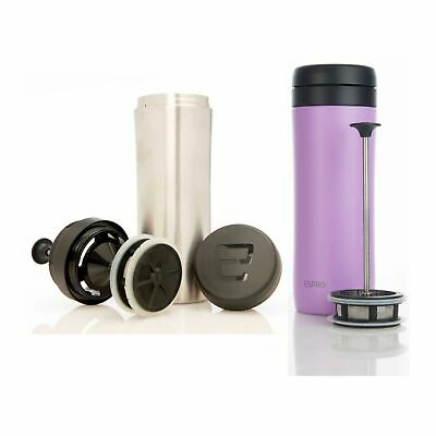 Espro Travel Press Violet Purple & Brushed Stainless w/Tea Filter Insulated
