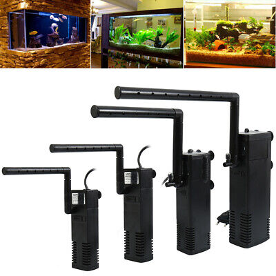 Sn_ Internal Aquarium Filter Water Pump Spray Air Tube Fish Tank Filtration St