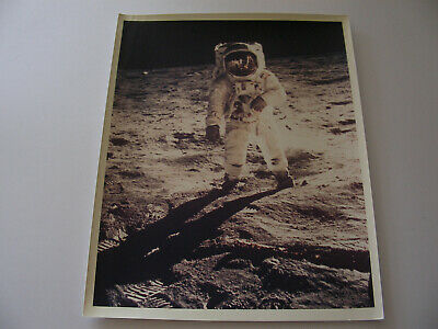 "Apollo XI (11) Buzz Aldrin Visor Shot Lunar EVA ""A Kodak Paper"" 8x10 NASA Photo"