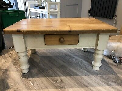 Attractive Small Antique Pine Coffee Table