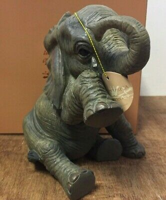 """Missing You"" Elephant Ornament Figurine by Leonardo Elephant with Tear Statue"