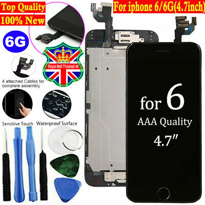 For iPhone 6 Screen Replacement LCD Display Touch Digitizer Button Camera Black*