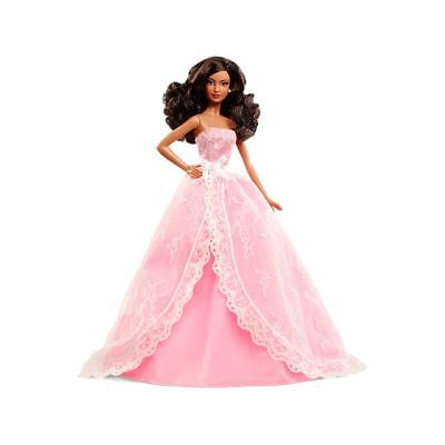 Barbie 2015 Birthday Wishes Black African American Doll NRFB Pink Label #CHF93