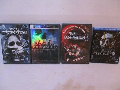 4 Film Collection: Final Destination DVD/Blue Ray  #1,2,3,5