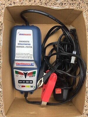 Optimate 3 Motorcycle 12V Battery Charger Optimiser Latest Sae Version