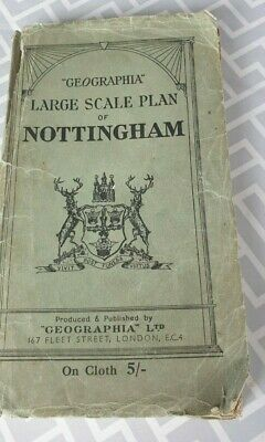 """Large Scale Plan Of Nottingham-Published & Produced By """"Geographia"""""""