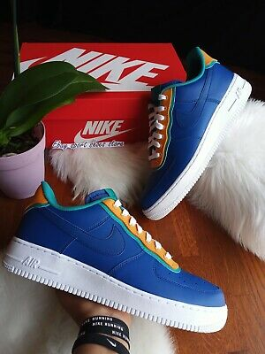 SIZE 10.5 Men's Nike Air Force 1 '07 LV8 1 Blue AO2439 401 Running Shoes