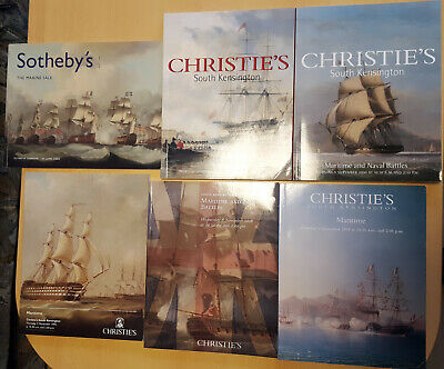 6 Kataloge Naval Maritime Battle Christies Sothebys Trafalgar Sea Maritime Art