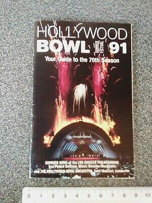 Hollywood Bowl 1991 summer festival guide to the 70th season 48 page collectable